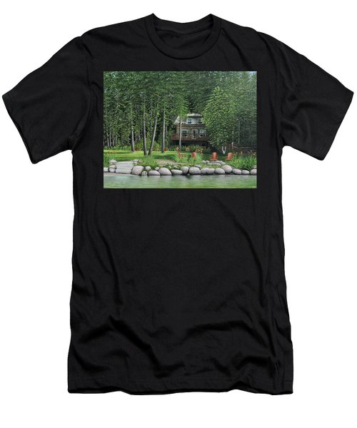 The Old Lawg Caybun On Lake Joe Men's T-Shirt (Slim Fit) by Kenneth M  Kirsch