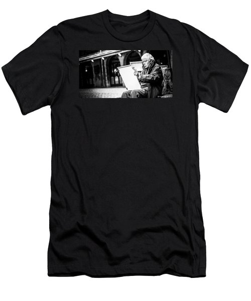 Men's T-Shirt (Athletic Fit) featuring the photograph The Old Man Painter II by Stwayne Keubrick