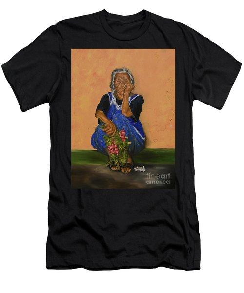 The Parga Flower Seller Men's T-Shirt (Athletic Fit)