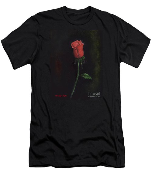 The Perfect Rose Men's T-Shirt (Slim Fit) by Becky Lupe