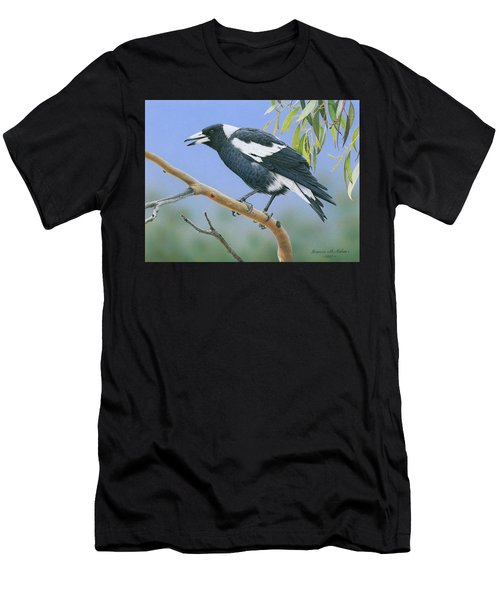 The Pied Piper - Australian Magpie Men's T-Shirt (Athletic Fit)