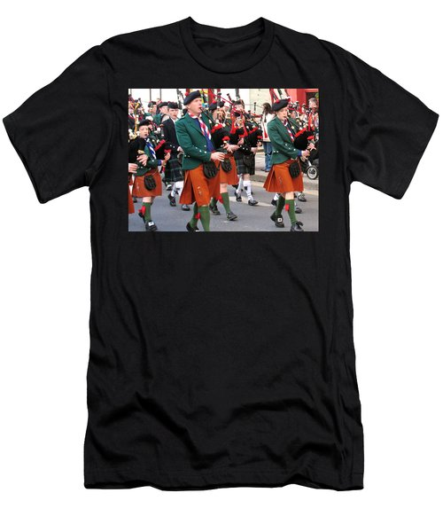 Men's T-Shirt (Slim Fit) featuring the photograph The Pipers by Suzanne Oesterling