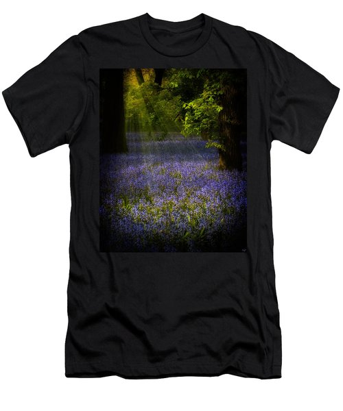 Men's T-Shirt (Slim Fit) featuring the photograph The Pixie's Bluebell Patch by Chris Lord