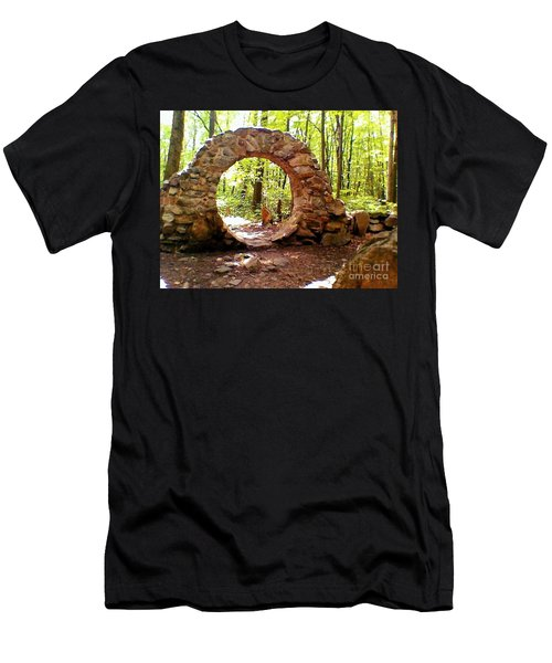 The Portal To Love Life Peace Men's T-Shirt (Athletic Fit)