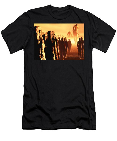 The Post Apocalyptic Gods Men's T-Shirt (Slim Fit) by John Alexander