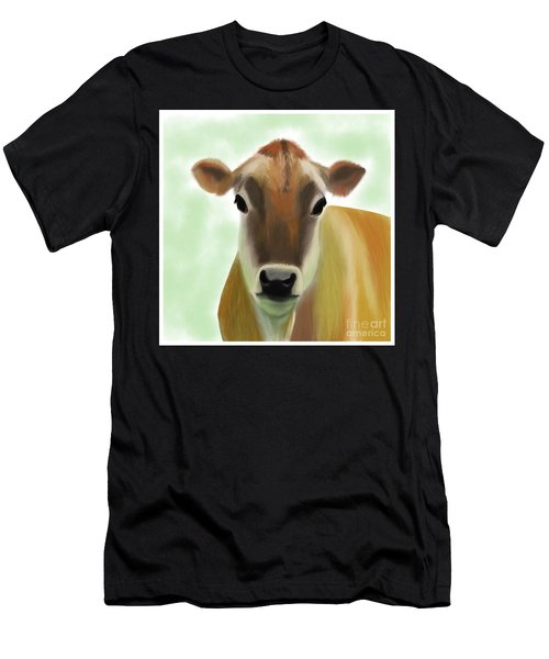 The Pretty Jersey Cow  Men's T-Shirt (Athletic Fit)