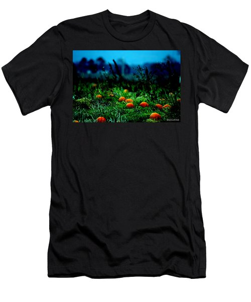Men's T-Shirt (Slim Fit) featuring the photograph The Pumpkin Patch by Lesa Fine
