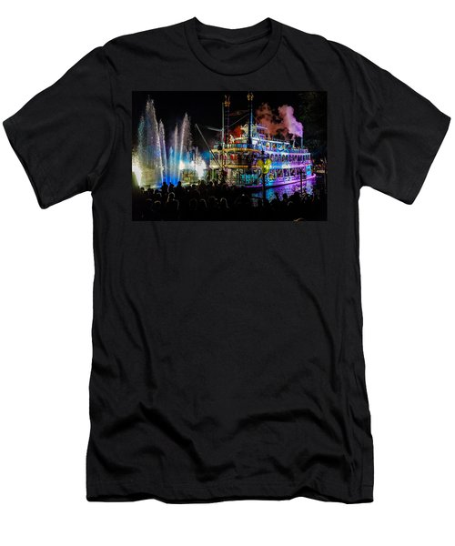 The Mark Twain Disneyland Steamboat  Men's T-Shirt (Athletic Fit)