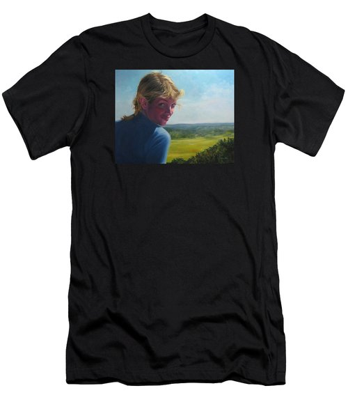 The Question Of A Minor Summit Men's T-Shirt (Slim Fit) by Connie Schaertl
