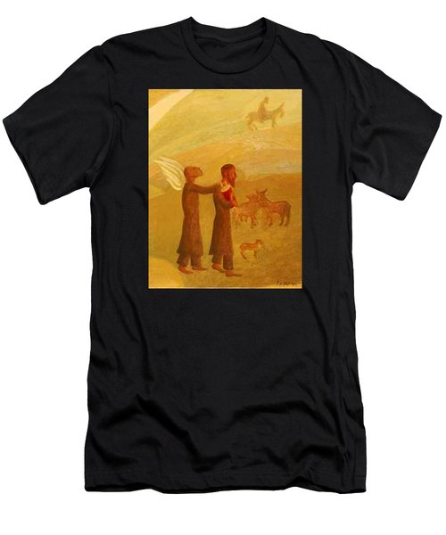 The Rabbi Leading The Angel Men's T-Shirt (Athletic Fit)
