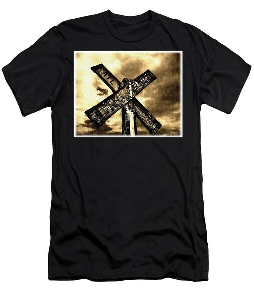 The Railroad Crossing Men's T-Shirt (Athletic Fit)