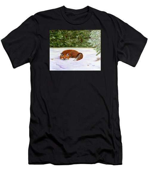 The Red Fox Of Winter Men's T-Shirt (Athletic Fit)