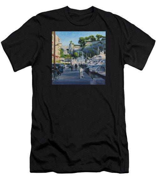 The Rock Ahead Men's T-Shirt (Slim Fit) by Connie Schaertl