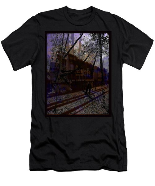 Men's T-Shirt (Slim Fit) featuring the digital art The Santa Fe by Cathy Anderson