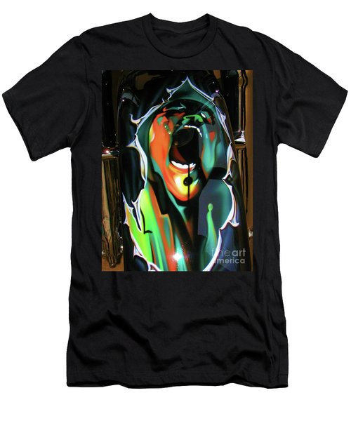 Men's T-Shirt (Slim Fit) featuring the photograph The Scream - Pink Floyd by Susan Carella