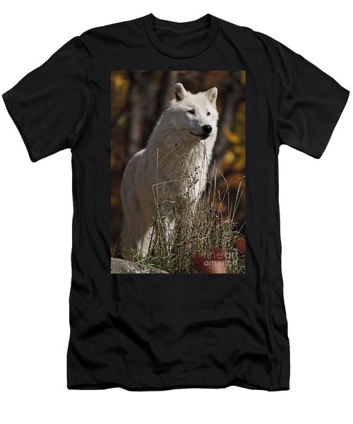 Men's T-Shirt (Slim Fit) featuring the photograph The Sentinel by Wolves Only