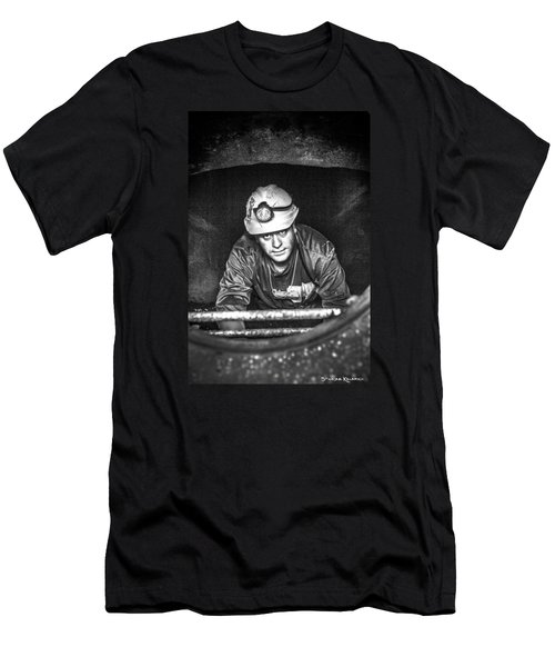 Men's T-Shirt (Athletic Fit) featuring the photograph The Sewer Guy by Stwayne Keubrick