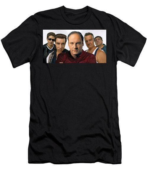 The Sopranos  Artwork 2 Men's T-Shirt (Slim Fit)