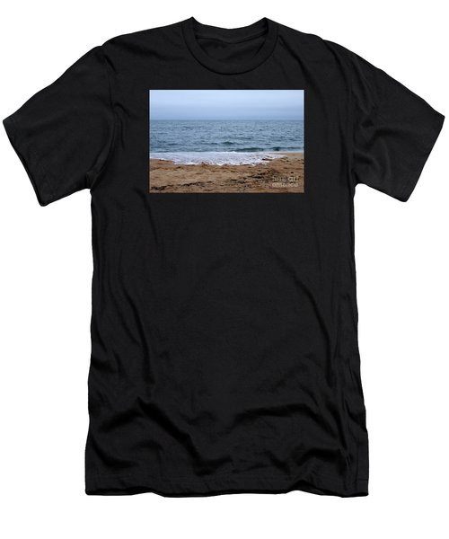 The Splash Over On A Sandy Beach Men's T-Shirt (Athletic Fit)