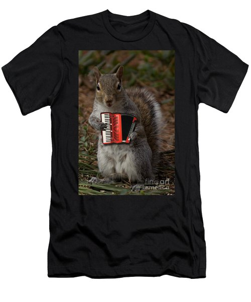 The Squirrel And His Accordion Men's T-Shirt (Athletic Fit)