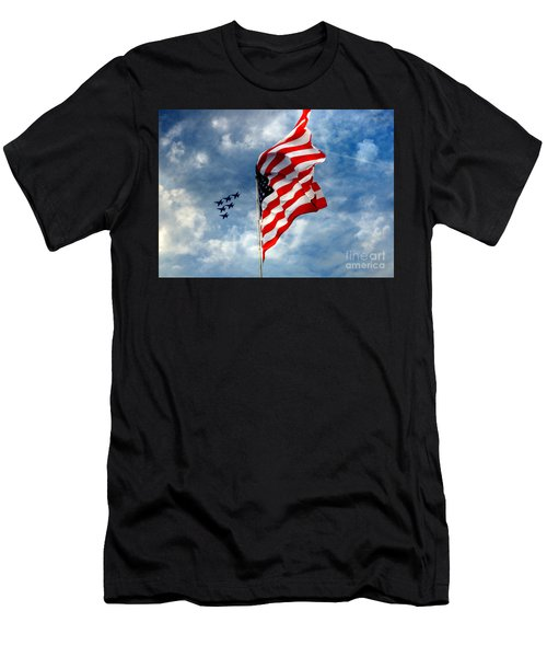 The Star Spangled Banner Yet Waves Men's T-Shirt (Athletic Fit)