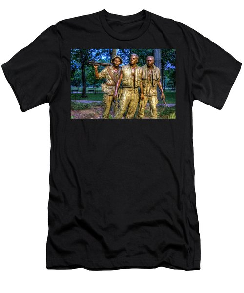 The Three Soldiers Facing The Wall Men's T-Shirt (Athletic Fit)
