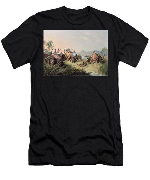 The Tiger At Bay Men's T-Shirt (Athletic Fit)