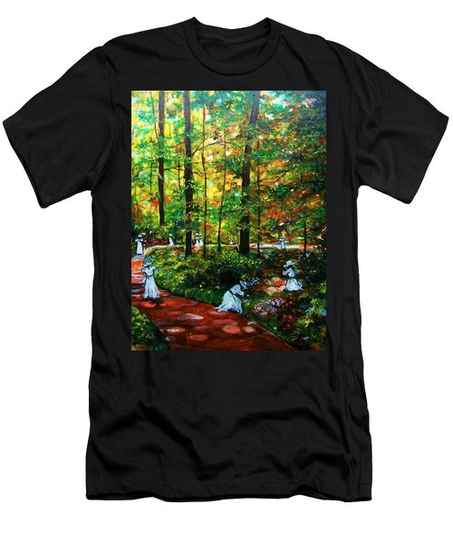 Men's T-Shirt (Slim Fit) featuring the painting The Trials by Emery Franklin