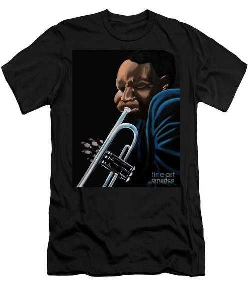 Men's T-Shirt (Slim Fit) featuring the painting The Trumpeter by Barbara McMahon