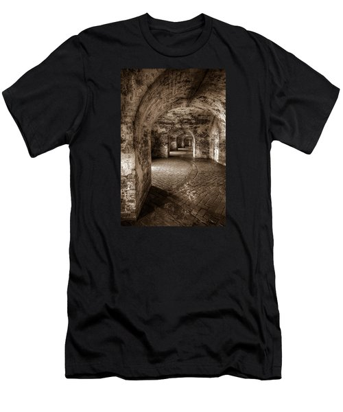 The Tunnels Of Fort Pike Men's T-Shirt (Slim Fit) by Tim Stanley