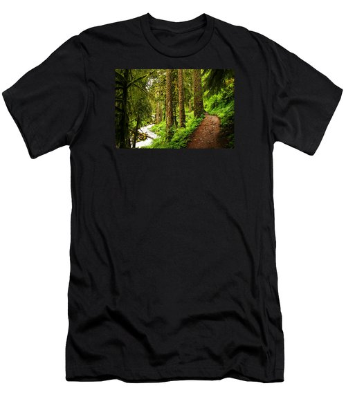 The Twisting Path Winding Through Paradise  Men's T-Shirt (Slim Fit) by Jeff Swan