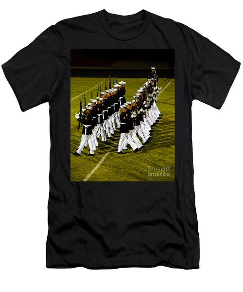 The United States Marine Corps Silent Drill Platoon Men's T-Shirt (Slim Fit) by Robert Bales
