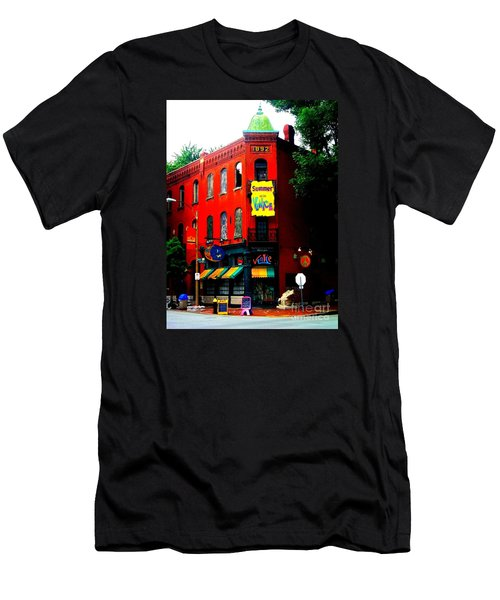 The Venice Cafe' Edited Men's T-Shirt (Slim Fit) by Kelly Awad