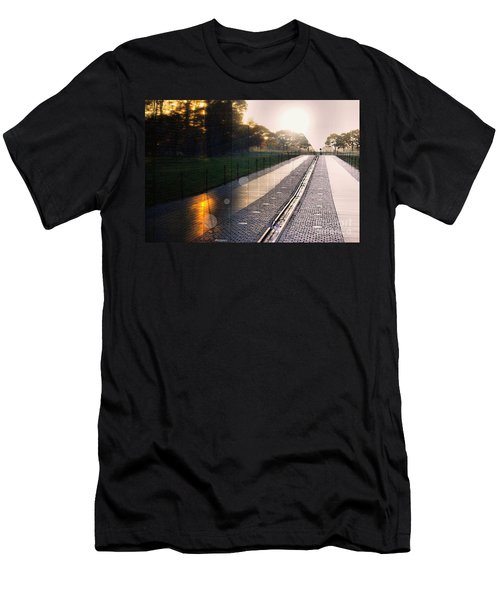 Men's T-Shirt (Slim Fit) featuring the photograph The Vietnam Wall Memorial  by John S