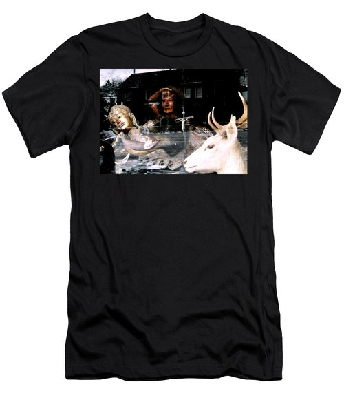 Men's T-Shirt (Slim Fit) featuring the photograph A Surreal View by Michael Hoard