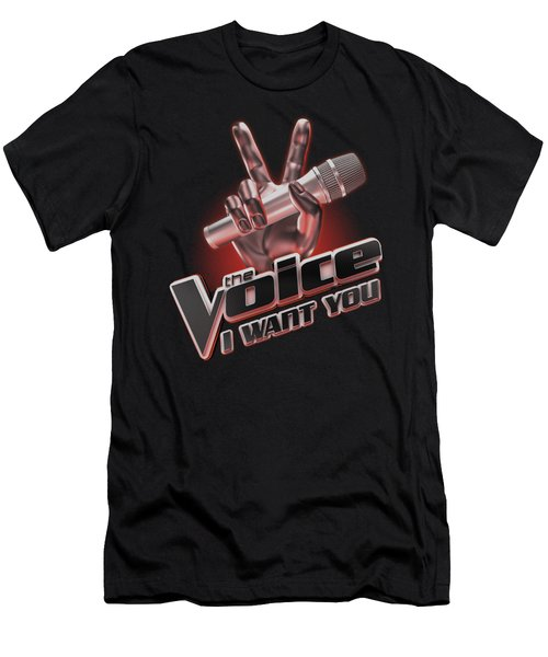 The Voice - Logo Men's T-Shirt (Athletic Fit)