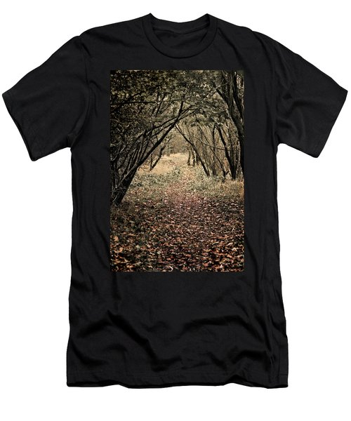 Men's T-Shirt (Slim Fit) featuring the photograph The Walk by Meirion Matthias
