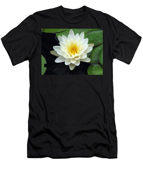 Men's T-Shirt (Slim Fit) featuring the photograph The Water Lilies Collection - 02 by Pamela Critchlow