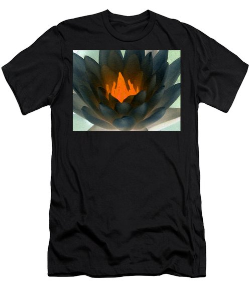 Men's T-Shirt (Slim Fit) featuring the photograph The Water Lilies Collection - Photopower 1038 by Pamela Critchlow