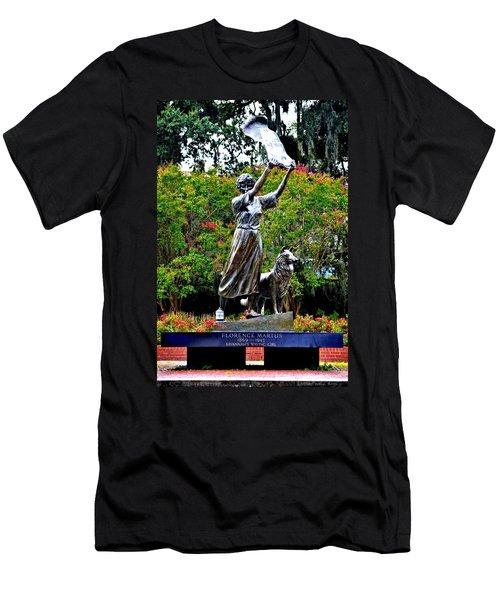The Waving Girl Of Savannah Men's T-Shirt (Athletic Fit)