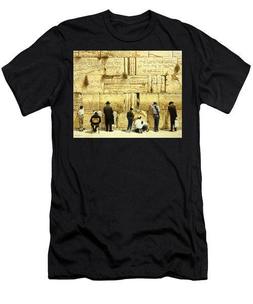 The Western Wall  Jerusalem Men's T-Shirt (Athletic Fit)