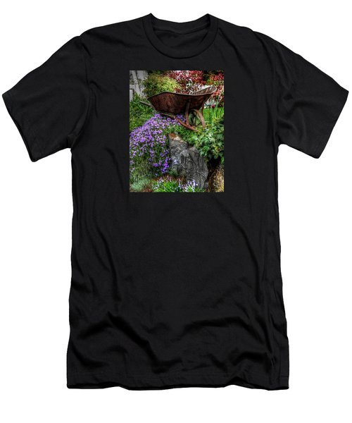 Men's T-Shirt (Slim Fit) featuring the photograph The Whimsical Wheelbarrow by Thom Zehrfeld