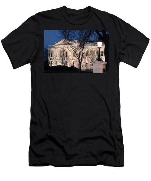 Men's T-Shirt (Slim Fit) featuring the photograph The White House At Dusk by Cora Wandel