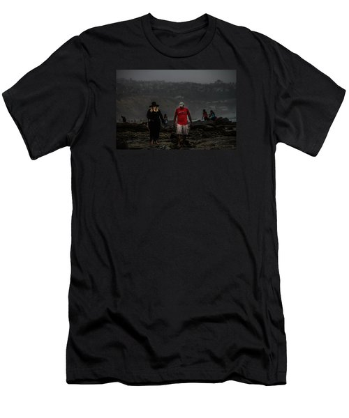 The Witch On The Beach Men's T-Shirt (Slim Fit) by Menachem Ganon