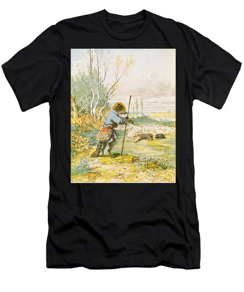 The Wolf As A Shepherd Men's T-Shirt (Athletic Fit)