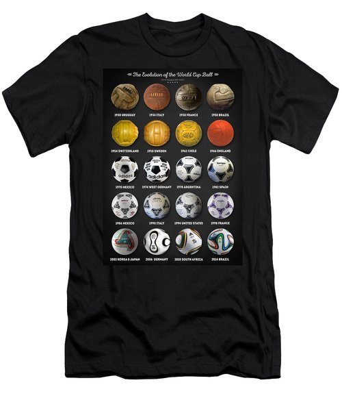 The World Cup Balls Men's T-Shirt (Slim Fit) by Taylan Apukovska