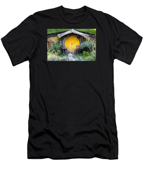 Yellow Hobbit Door Men's T-Shirt (Athletic Fit)