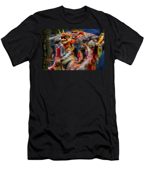 Their Spirit Is Among Us - Nanticoke Powwow Delaware Men's T-Shirt (Athletic Fit)