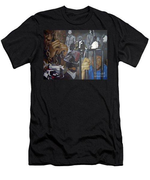 Think Black Man Men's T-Shirt (Athletic Fit)