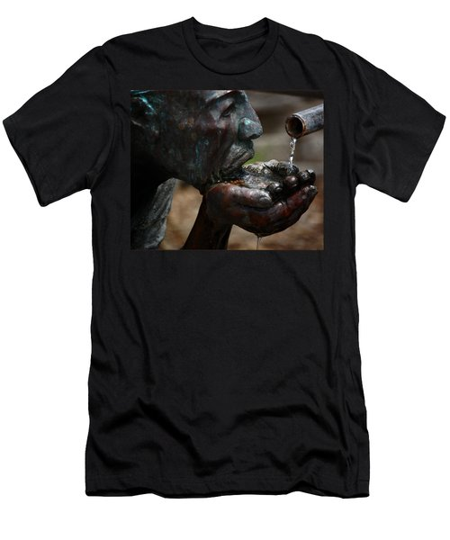 Men's T-Shirt (Slim Fit) featuring the photograph Thirst Quencher by Leticia Latocki